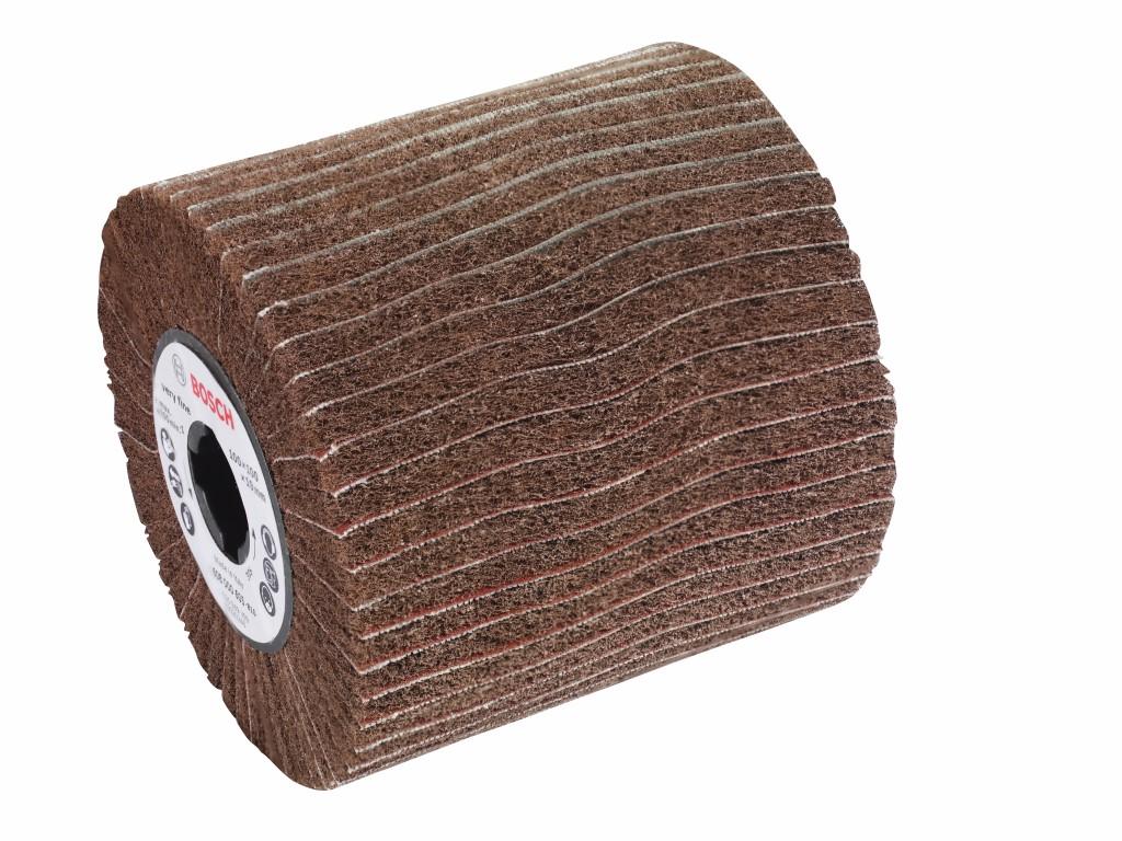 Image of   Lamelsliberulle med fleece 19 mm, fin, 100 mm, 100 mm