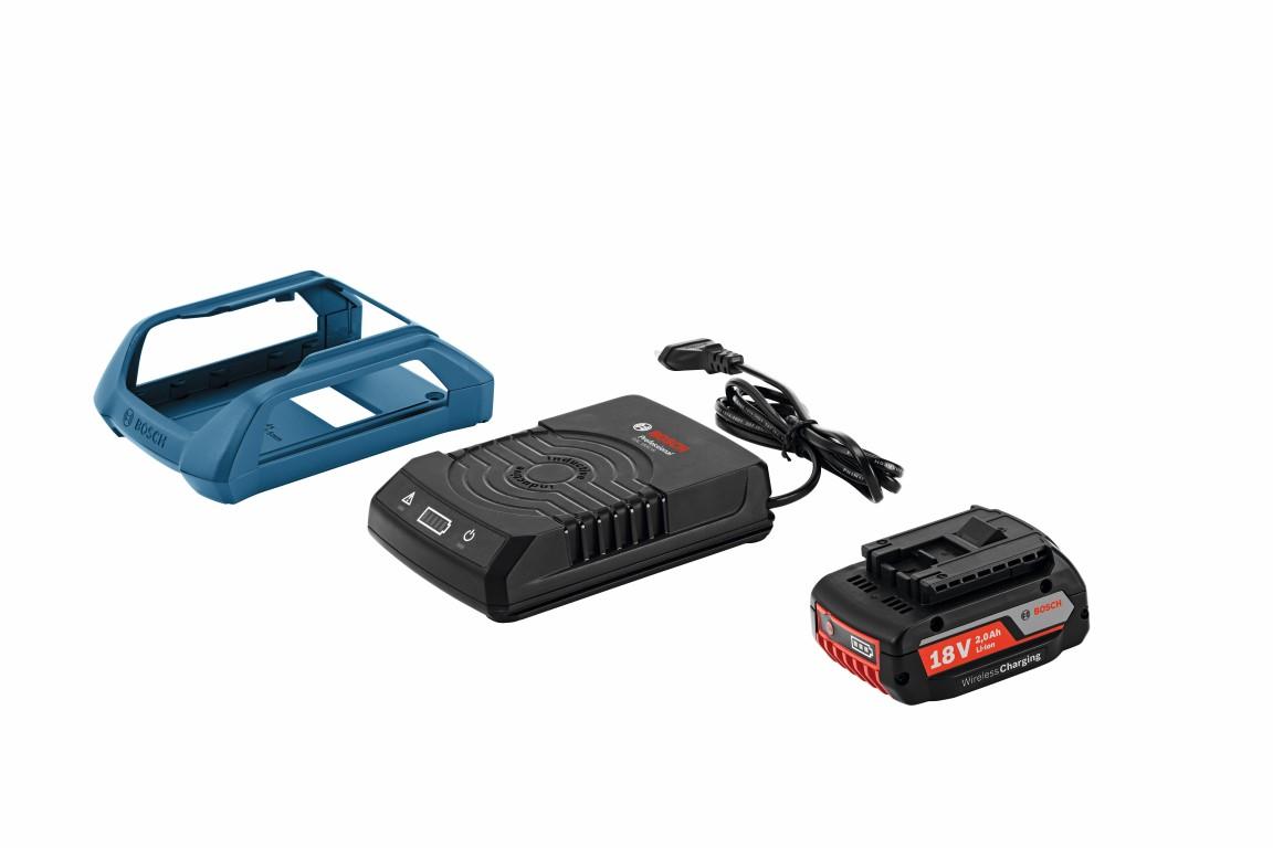 Image of   Startsæt GBA 18 V 2,0 Ah + GAL 1830 W Wireless Charging Startsæt Wireless Charging akku GBA 18 V 2,0 Ah W + lader GAL 1830 W Professional
