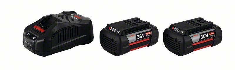 Image of   Startsæt 2 x GBA 36 V 4,0 Ah + GAL 3680 CV Startsæt 2 x akkuer GBA 36 V 4,0 Ah + lader GAL 3680 CV Professional