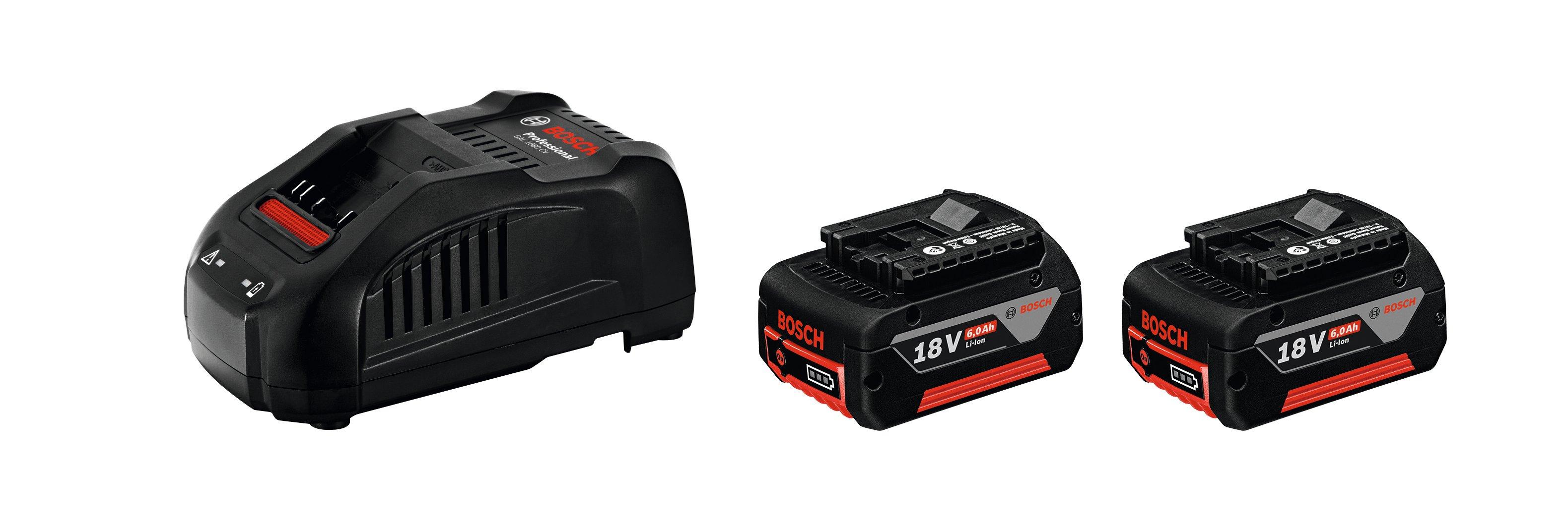 Image of   Startsæt 2 x GBA 18 V 5,0 Ah + GAL 1880 CV Startsæt 2 x akkuer GBA 18 V 5,0 Ah + lader GAL 1880 CV Professional