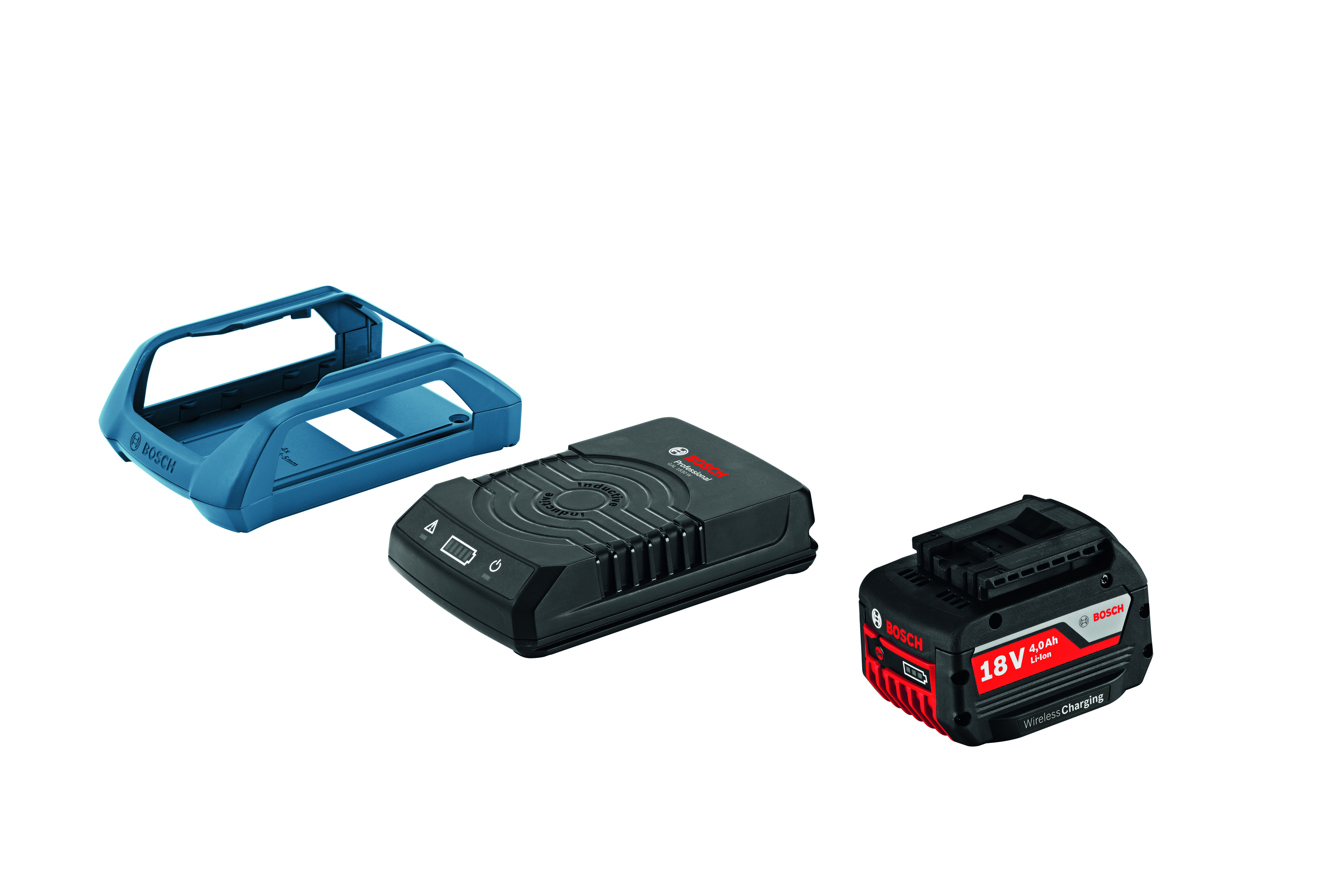 Image of   Startsæt GBA 18 V 4,0 Ah W + GAL 1830 W Wireless Charging Startsæt Wireless Charging akku GBA 18 V 4,0 Ah W + lader GAL 1830 W Professional