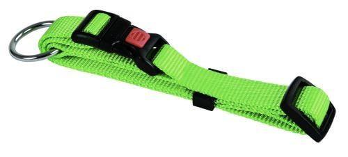 Halsbånd nylon grøn 10 mm 20-35 cm