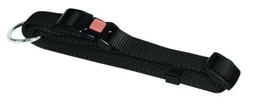 Halsbånd nylon sort 15 mm 30-45 cm