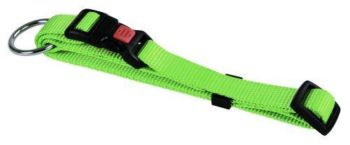 Halsbånd nylon grøn 15 mm 30-45 cm