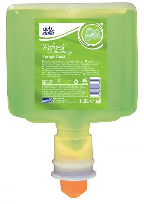 Refresh Energi Foam mild skumsæbe 1.2 l flaske med pumpe