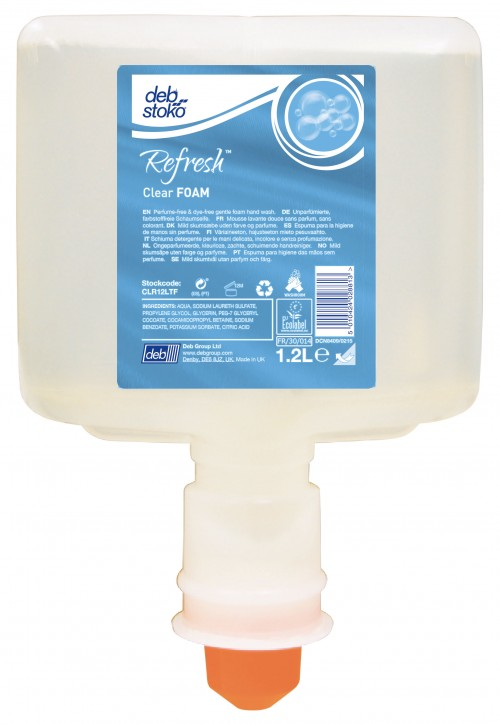 Image of   Refresh Clear Foam skumsæbe 1,2 l patron touch free