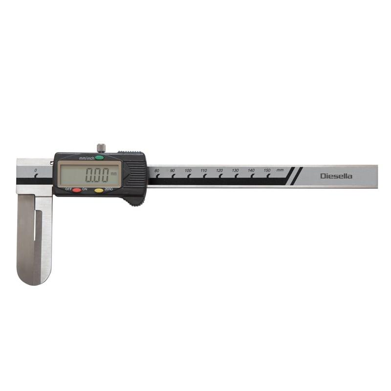 Diesella skydelære digital 18-200mm for indvendig måling