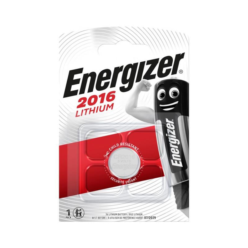 ENERGIZER CR2016 Lithium 3V knapcelle batteri (1 stk.)