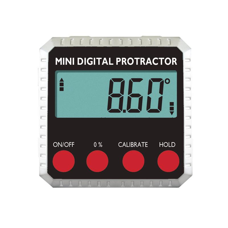 Billede af Digital hældningsmåler (vinkelmåler) 4x90° x 0,2° med magneter i bunden