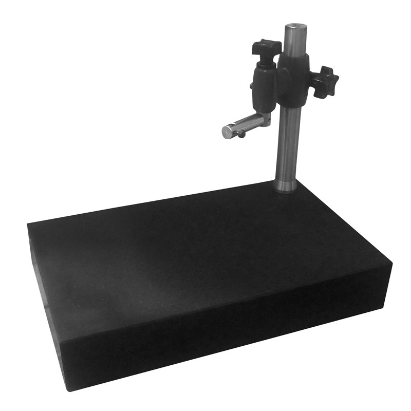 Image of   Granit bord 400x250 mm med holdestativ til ruhedsmåler