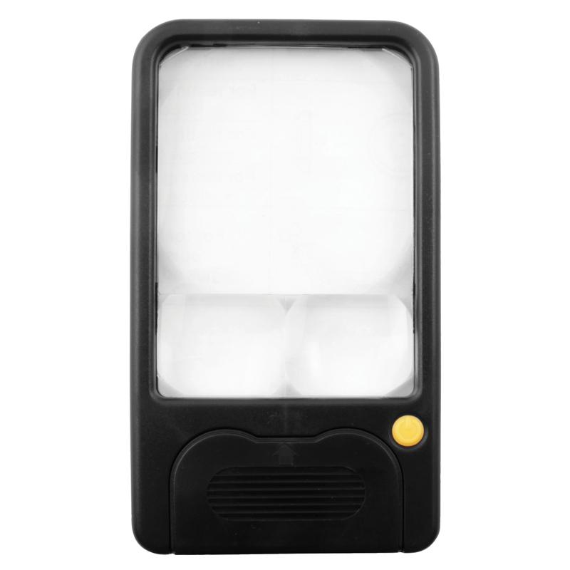 Billede af Håndlup 3X/5X/7X forstørrelse og LED lyskilde (flad model)