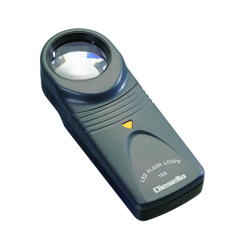 Billede af Håndlup med 10X forstørrelse Ø26 mm linse og LED