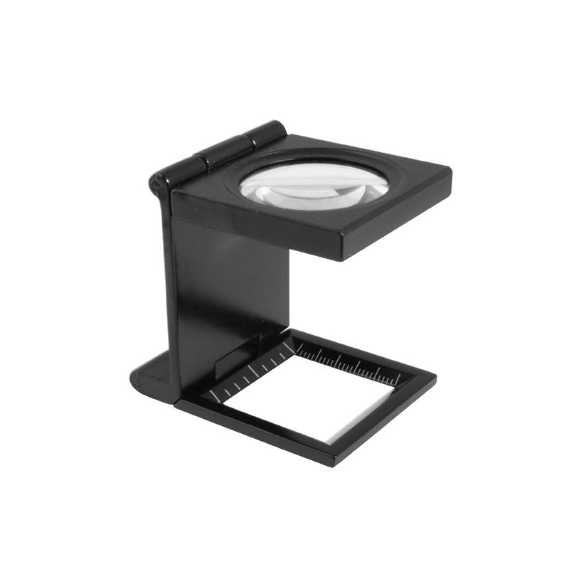 Billede af Foldbar lup 6X forstørrelse Ø30 glaslinse i metalhus