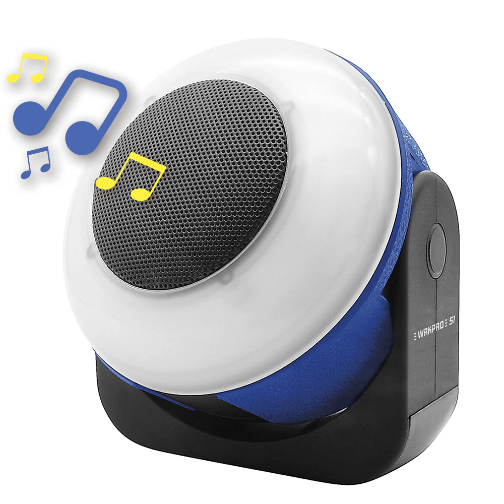 """WRKPRO arbejdslampe """"S1"""" SMD LED med genopladeligt batteri og 5W Bluetooth højtaler"""