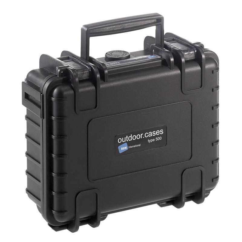 OUTDOOR kuffert i sort med skum polstring 205 x 145 x 80 mm Volume: 2,3 L Model: 500/B/SI