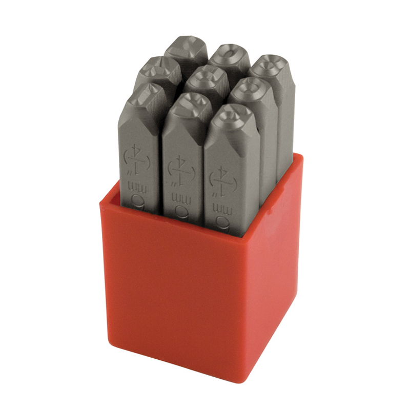 Ståltal 10,0 mm 0-8 (6&9=1) 9 stk i plastkassette