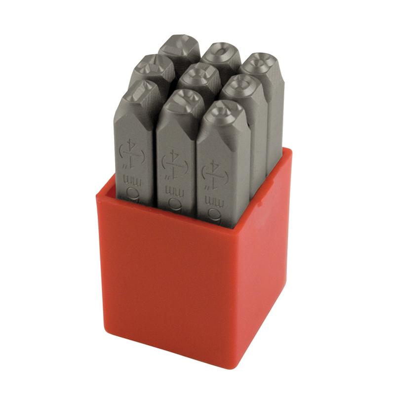 Ståltal 12,0 mm 0-8 (6&9=1) 9 stk i plastkassette