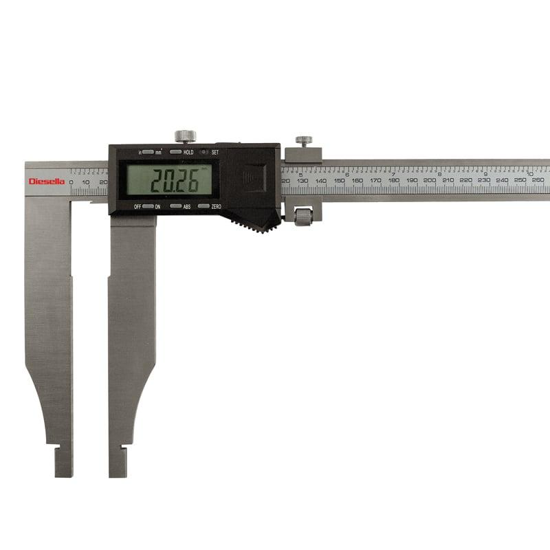 Digital værkstedsskydelære 0-1000mm x0,01mm kæbelgd. 150