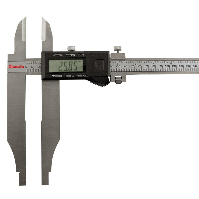 Digital dobbeltkæbet skydelære 0-1000mmx0,01mm kæbelgd.60/150
