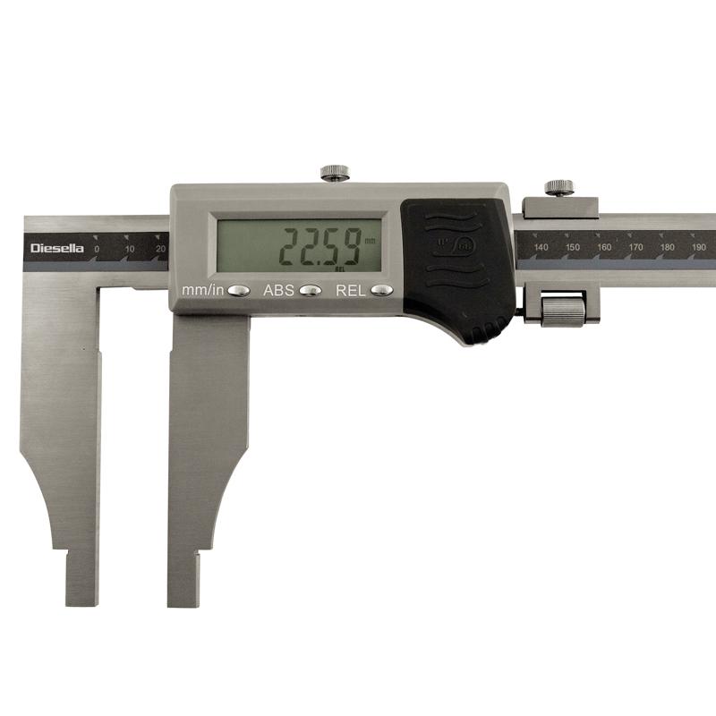 Digital værkstskydelære 0-1000 x 0,01 mm kæbelgd. 150 IP66.