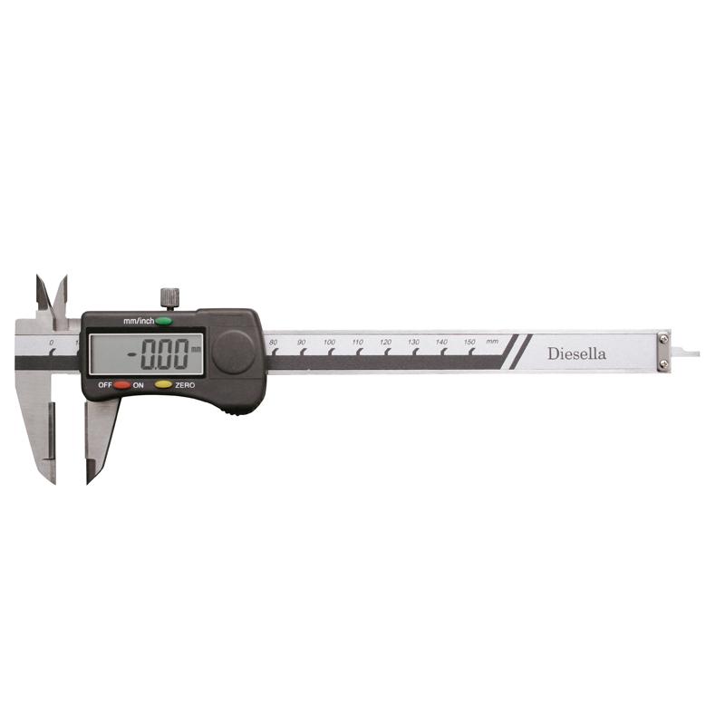 Image of   Digital skydelære 0-150 mm med hårdmetal måleflader