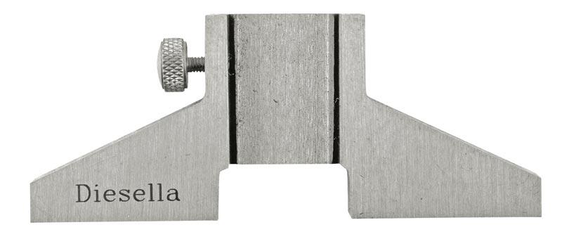 Dybdemålsfod for skydelærer L=75 mm, B=6 mm