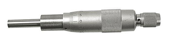 Indbygningsmikrometer 0-25 mm x 0,01