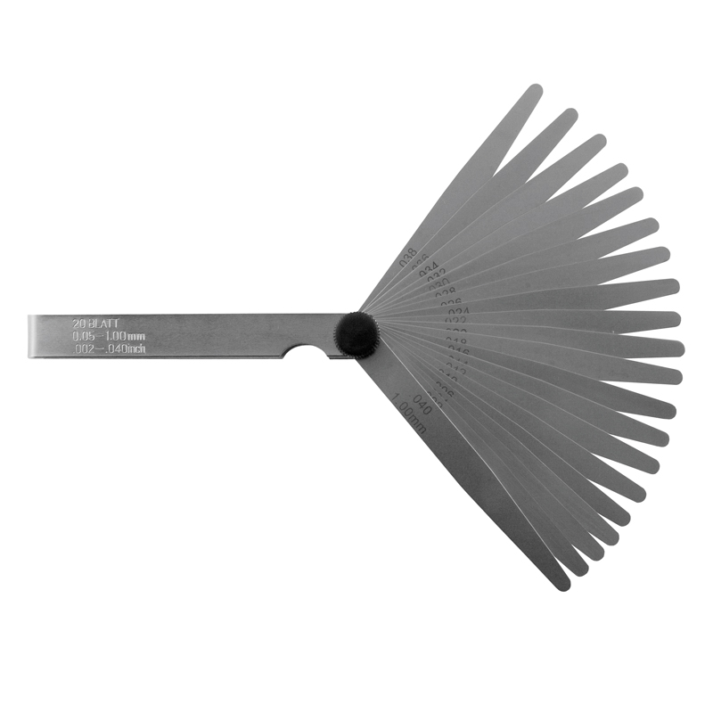 Søgeblade sæt 20 blade, 100 mm 0,1-2,0 mm x 0,1, INOX
