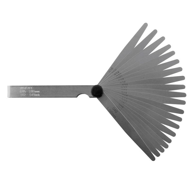 Søgeblade sæt 20 blade, 500 mm 0,05-1,00 mm x 0,05. INOX