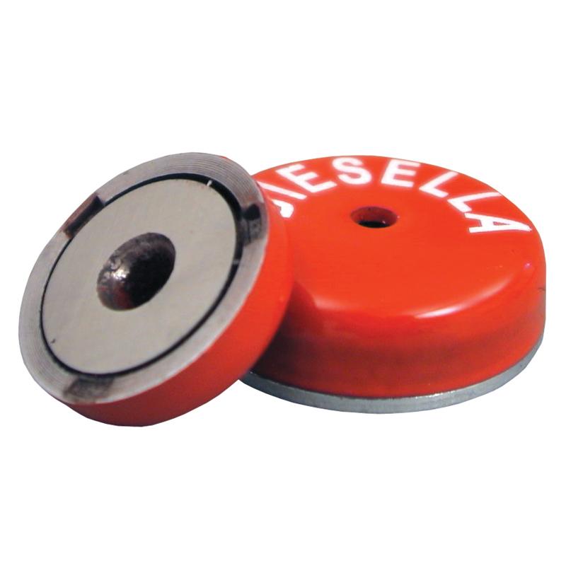 Lav pottemagnet Ø19,0x7,75 mm hul 3,50 mm