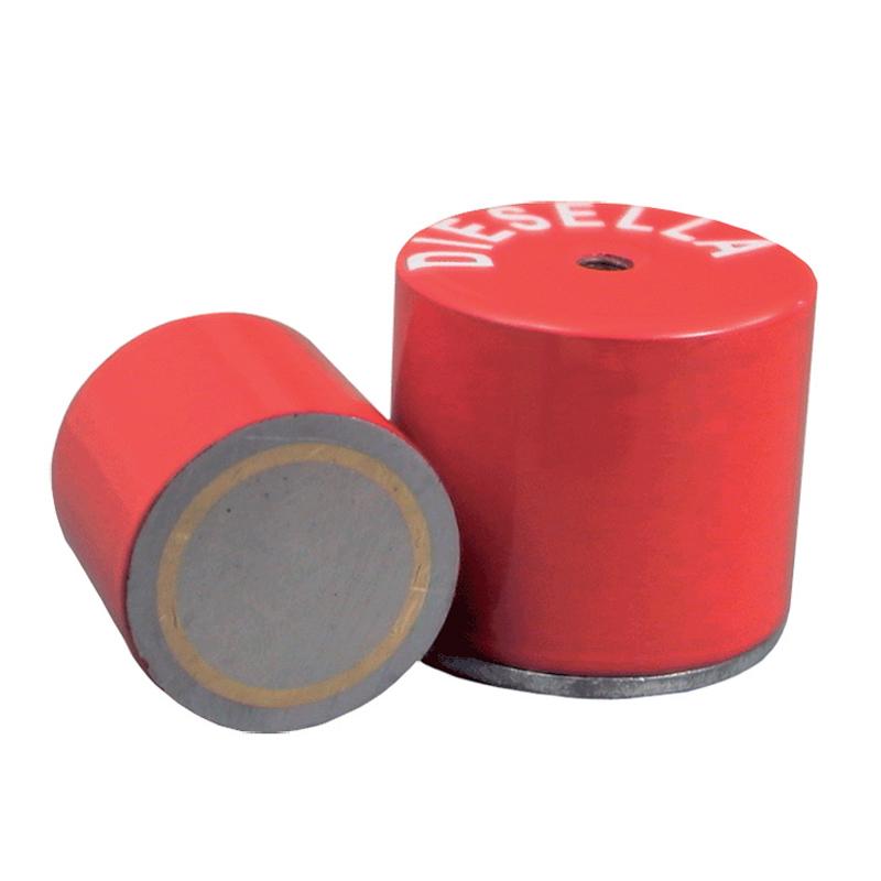 Pottemagnet Ø 50,0 x 40,0 mm M8 gevind