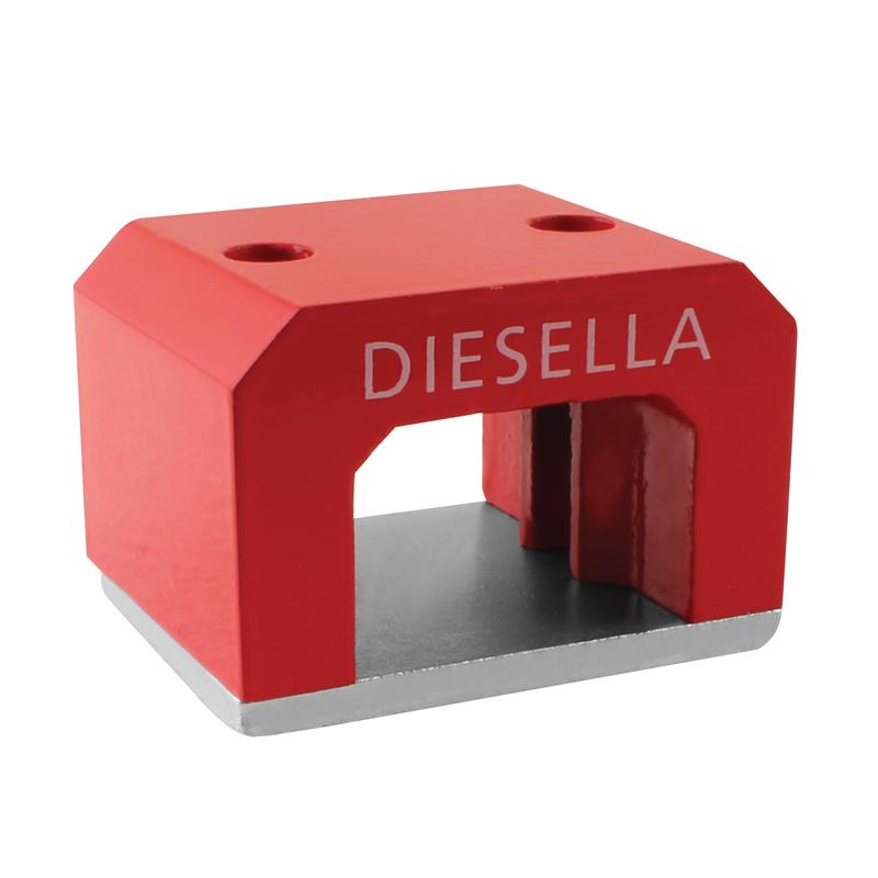 Image of   Hestesko magnet 57x40,5x35 mm 2 x Ø7,9 mm hul (250N)
