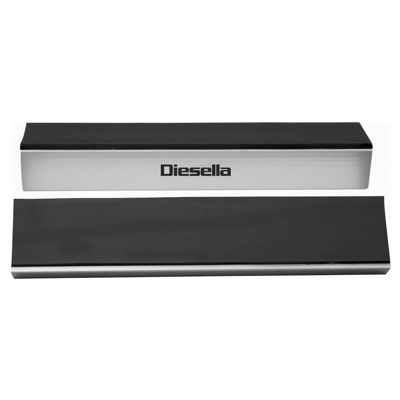 Image of   Diesella Alu. bakker med gummi 125 mm med magneter - sæt á 2 stk
