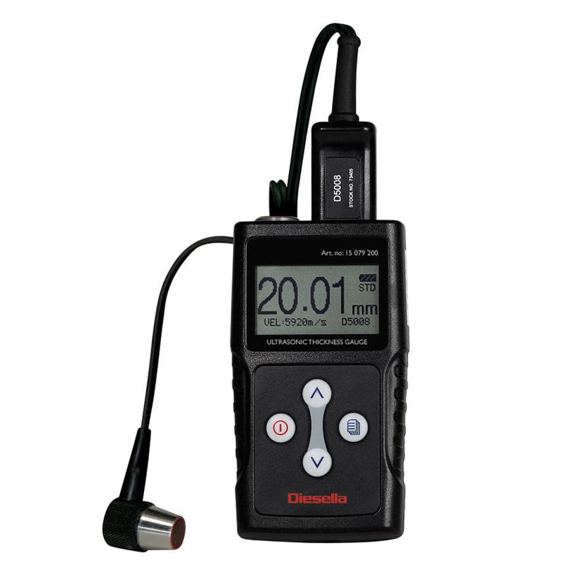 Ultrasonisk måleomr. 0,65 - 400 mm x 0,01 Tykkelsesmåler