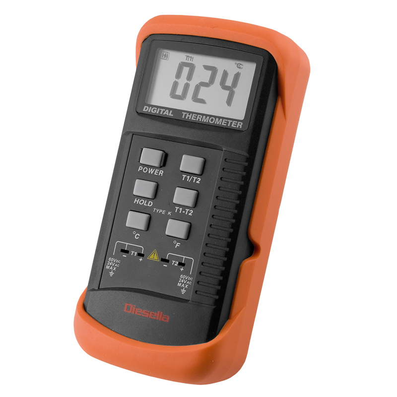 Termometer digital differens -50°-1300°C. Opløsning 1°C