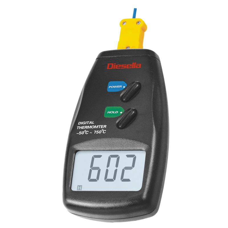 Termometer, digital -50°-750°C Opløsning 1°C