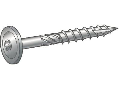 Image of   Træskrue waf 10,0x80 Essve - 50 stk