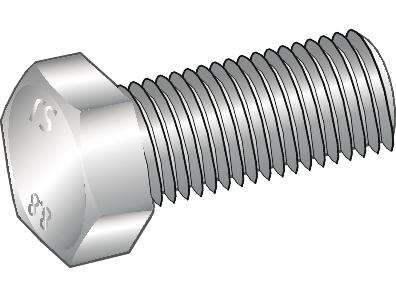 Image of   Blankforzinket stålsætskrue Essve med helgevind m6x20 - 50 stk