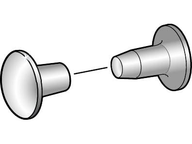 Dobbelt nitte Essve forniklet 7x7 mm - 25 stk