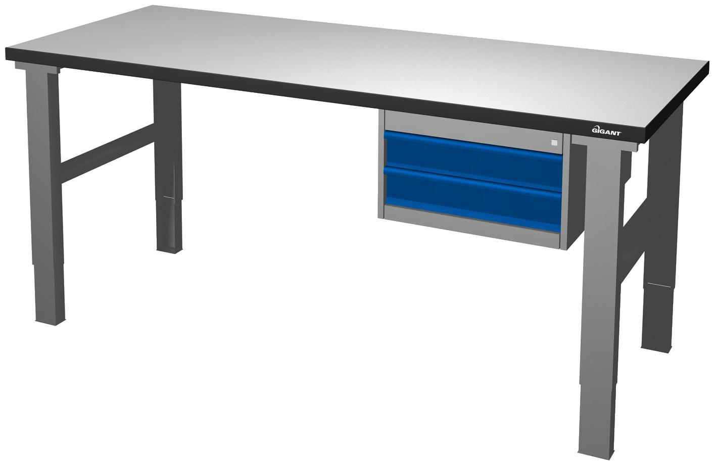 Image of   Arbejdsbord s 500 2000/800 k3 stål