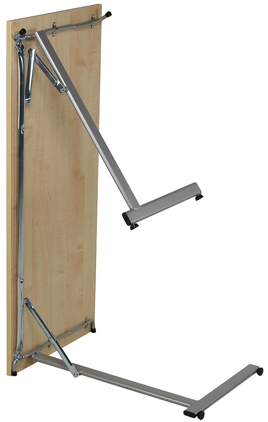 Image of   Bord med nedfældbare ben 1200x600 birk/alu