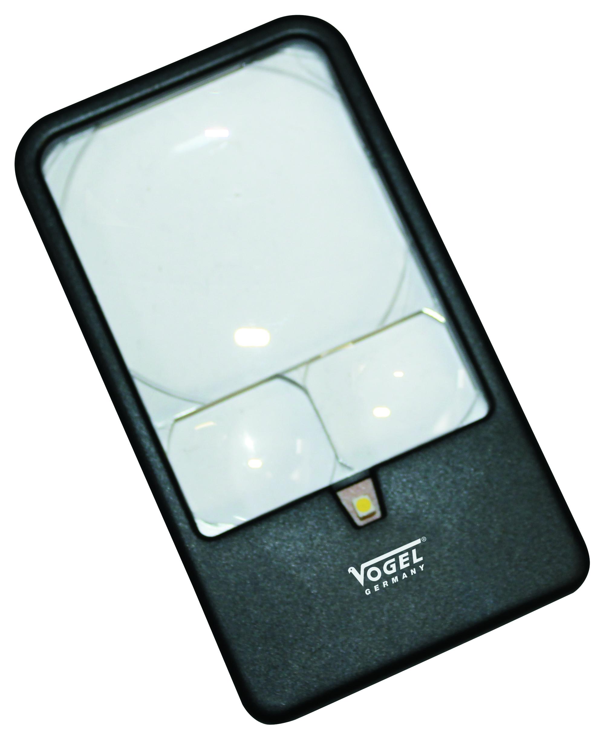 Image of   Lup Vogel med 3 linser og LED lys