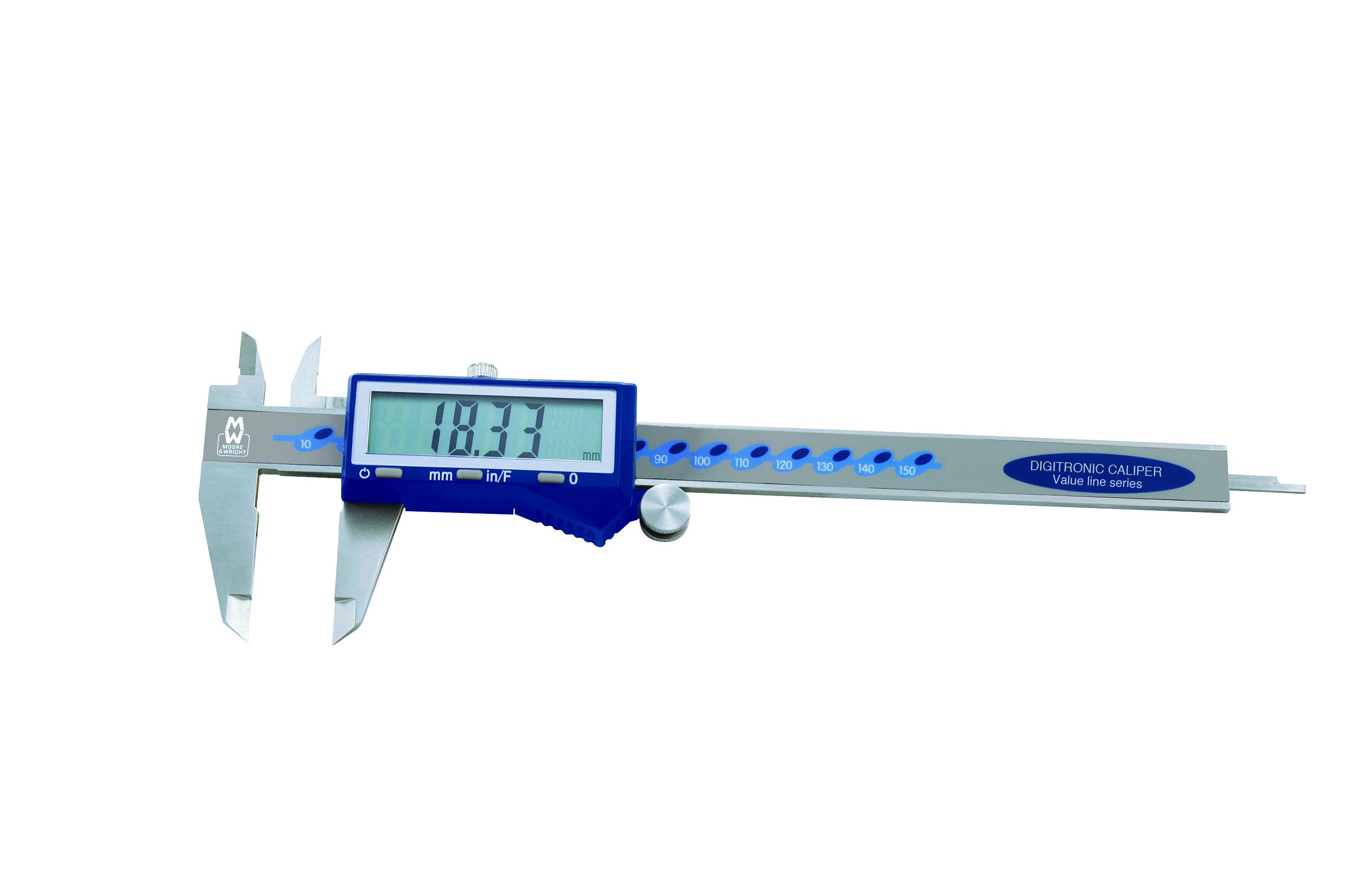 Moore & Wright hurtig digital 0-150mm Skydelære