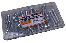 HERO Bolte Sortiment 53 stk.