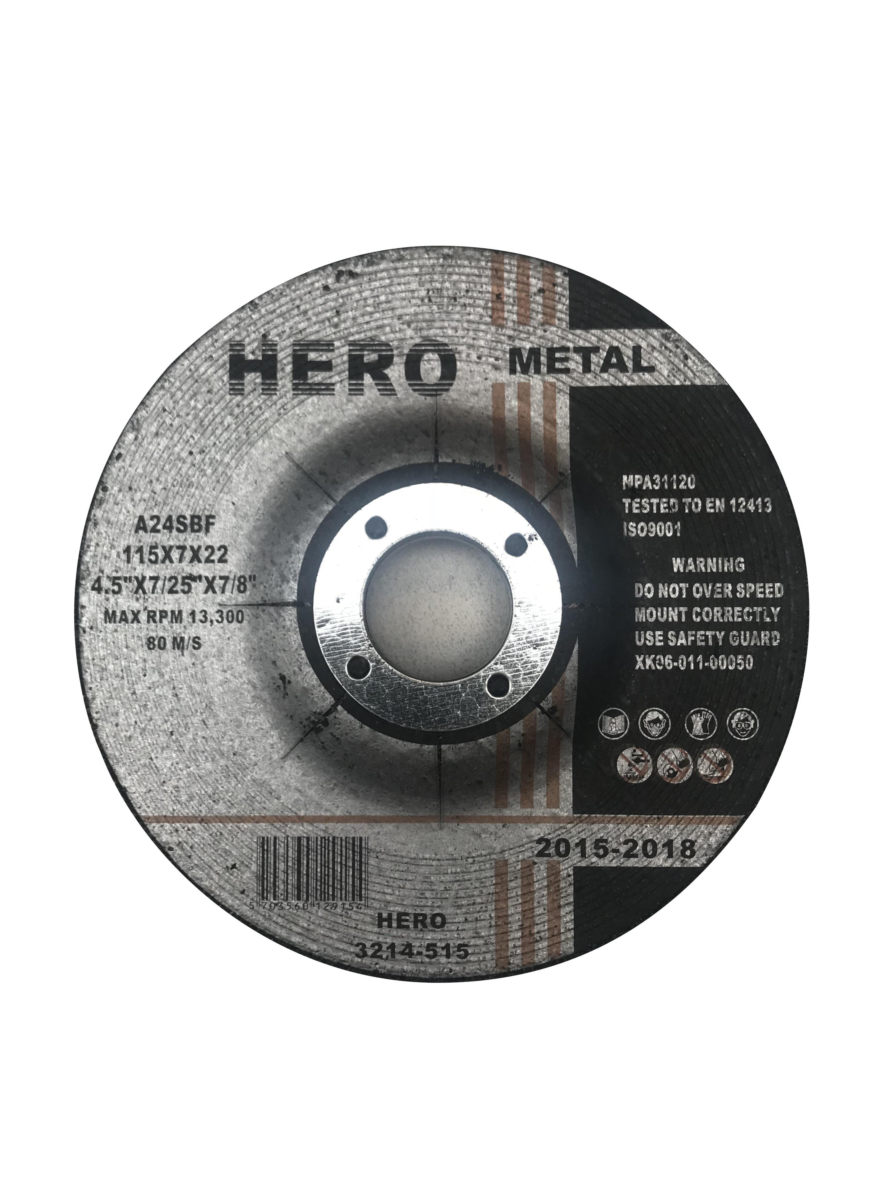 HERO Slibeskiver metal 7,0 x125 mm
