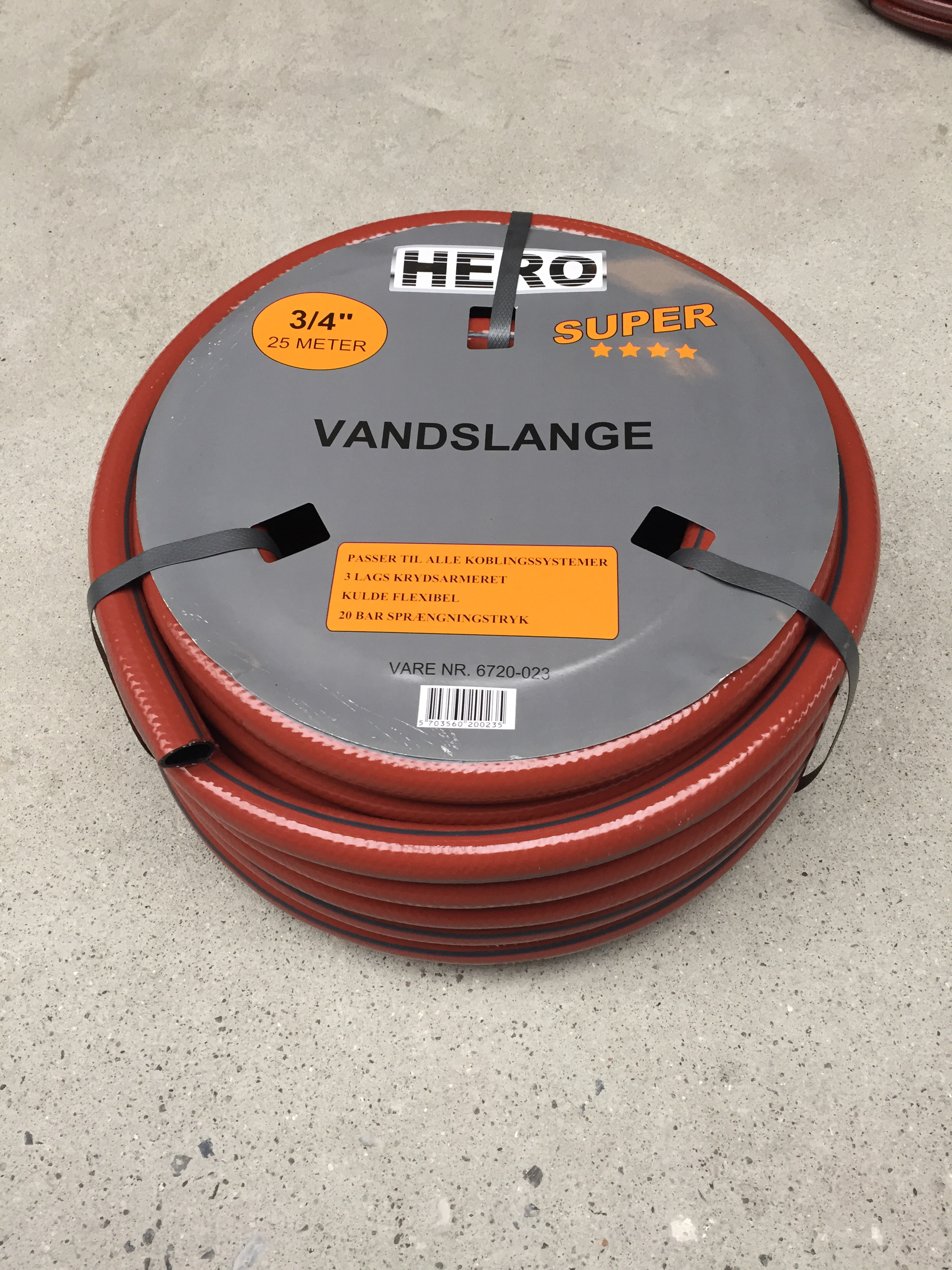 Image of   HERO Vandslange 1/2 - 25 mtr.