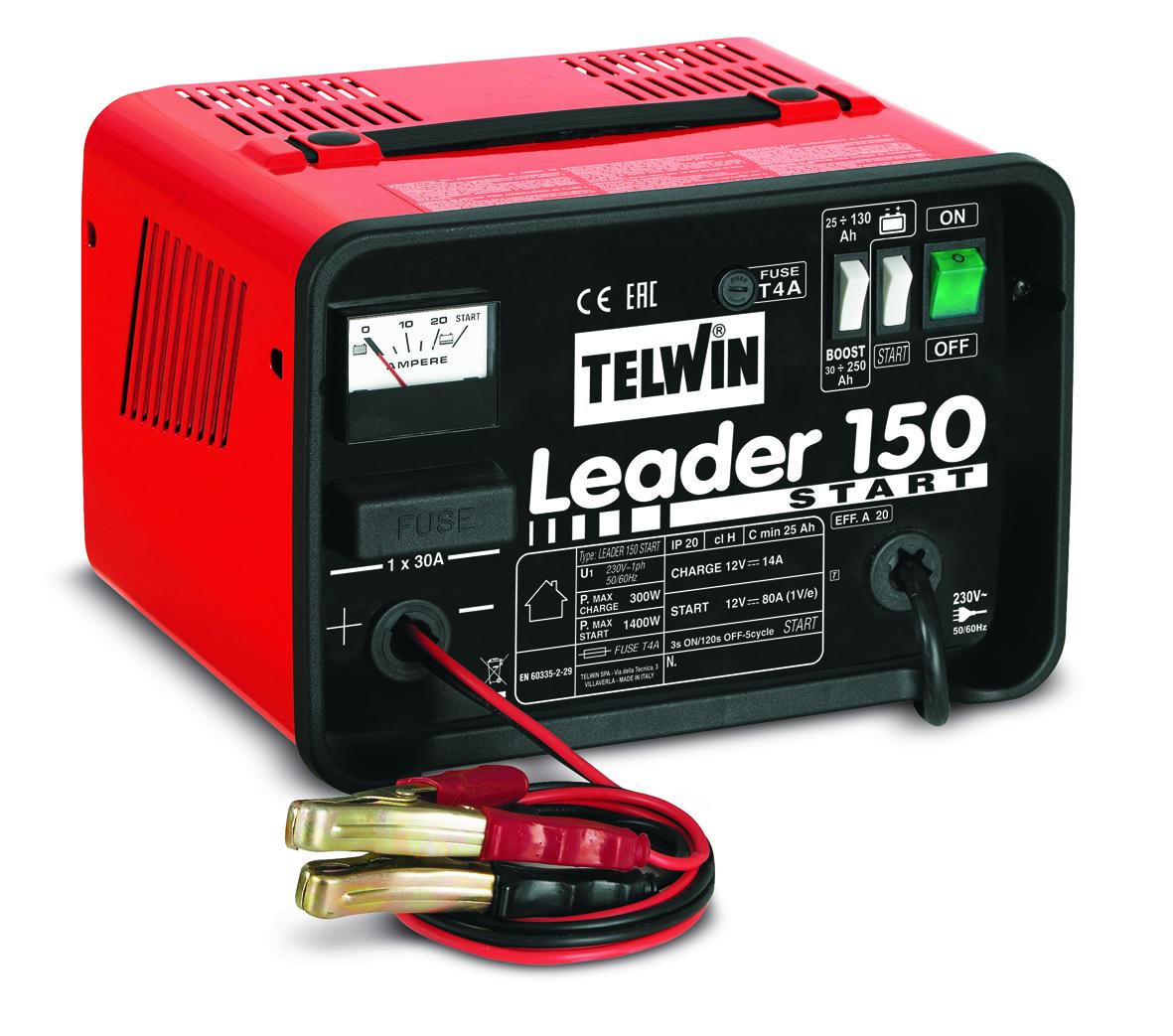 Image of   Telwin batterilader med starthjælp 12 V