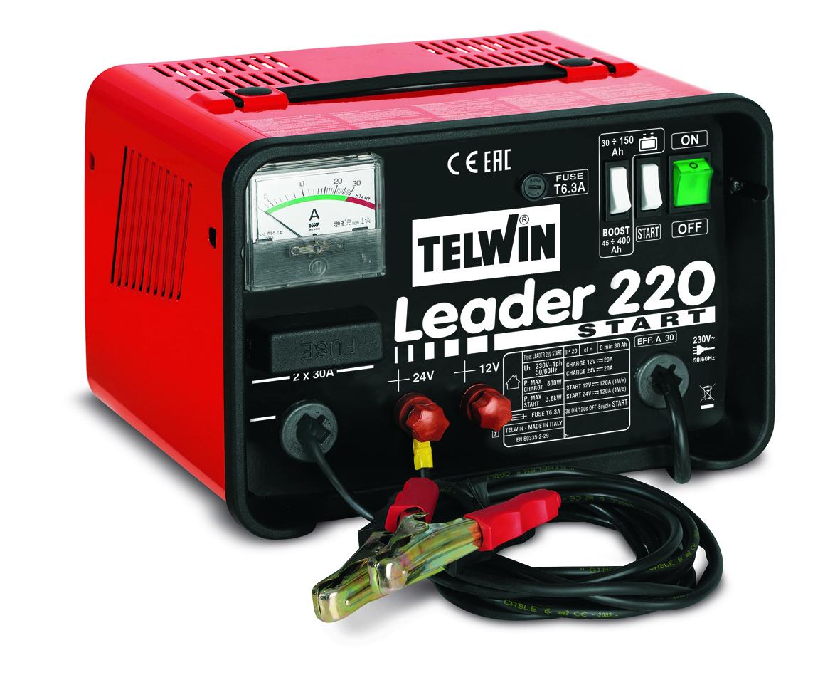 Image of   Telwin batterilader med starthjælp 12-24
