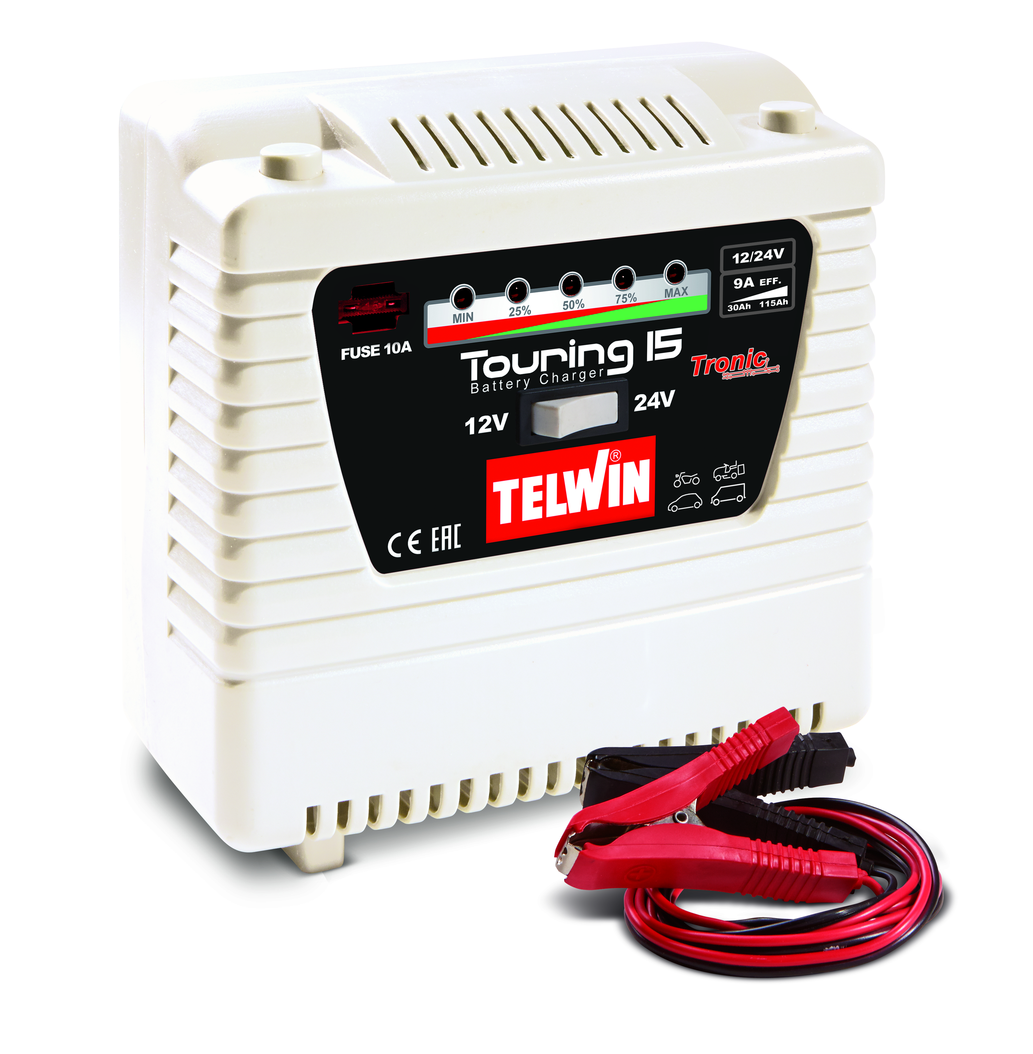Image of   TELWIN TOURING 15 batterilader 12/24 V