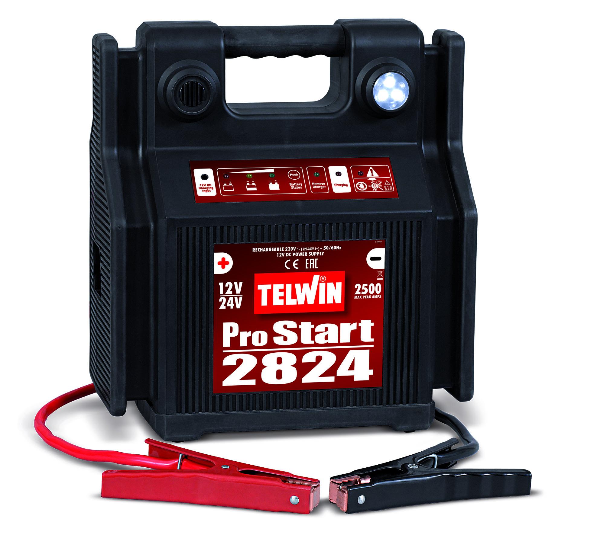 Image of   Telwin Bærbar batterilader 12-24 volt